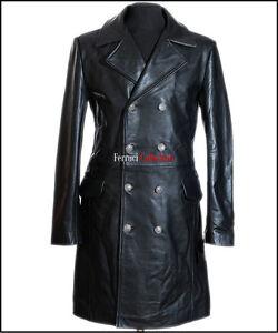 de vachette véritable Veste de cuir militaire en général style cuir allemand en TwqUtxEgY