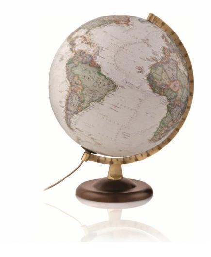 Mappamondo dm 30    Gold EXECUTIVE EXECUTIVE EXECUTIVE globo politico fisico luce arroto 11a907