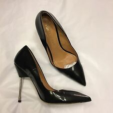 KURT GEIGER 'Elliott' metal nail heel black court heels shoes 38 UK 5 Britton