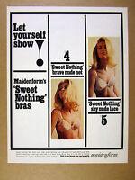 1965 Maidenform Sweet-Nothing Bra pretty blond woman photo vintage print Ad