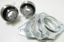 """Go Kart Cart (2) Sets Cassettes & Bearings Fits 1.00"""" Axle Std  3 Hole Mounting"""