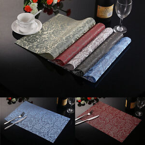 Pattern-Weave-Insulation-Bowl-Placemats-Dining-Pad-Western-Table-Mats-Sales