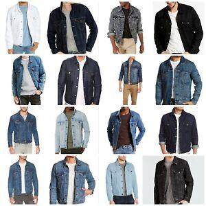 Levis-Jackets-Men-039-s-Denim-Trucker-Jacket-Blue-Gray-White-Black-All-Sizes