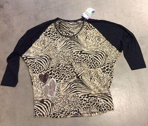 "ORIGINAL DESIGUAL Shirt /"" TS LEOPARDO /"" 48T2549   OVERSIZE"