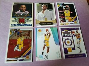 LEBRON-JAMES-ROOKIE-card-Game-Used-Jersey-039-19-20-Optic-DONRUSS-CONTENDERS-LAKERS