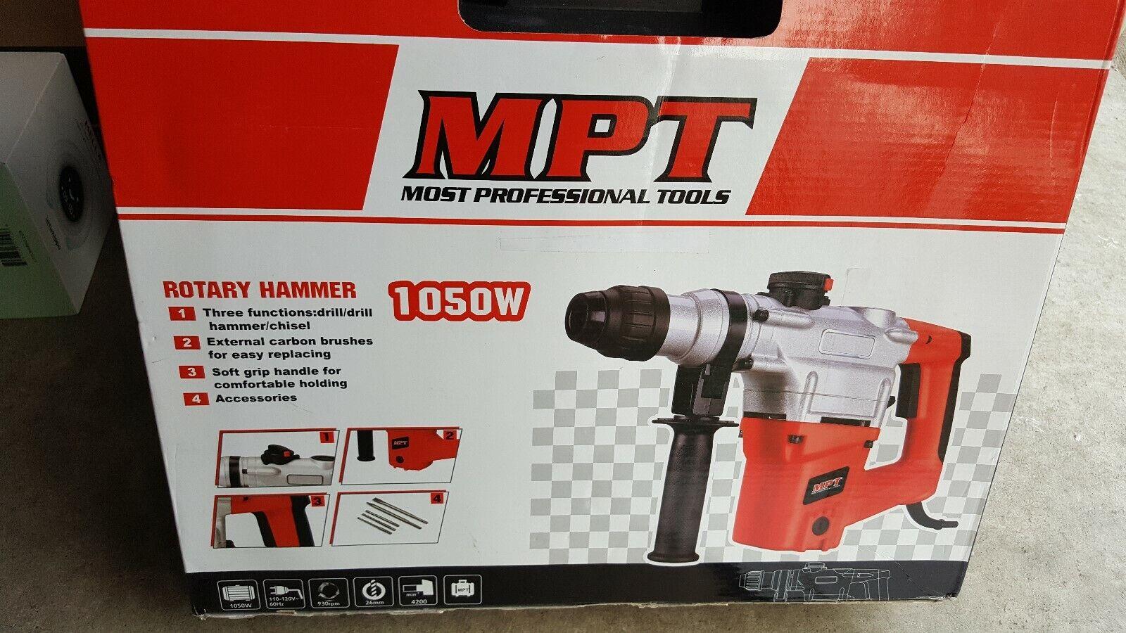MPT MOST PROFESSIONAL TOOLS ROTARY HAMMER 1050W UMRH2603