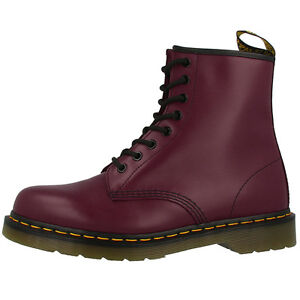 Details about Dr Doc Martens 1460 Boots 8 Loch Leather Boots Cherry Red Smooth 10072600