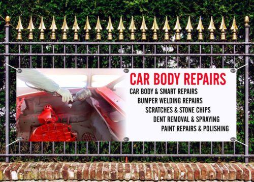 OUTDOOR PVC CAR BODY REPAIR BANNER SIGN ADVERT FREE ART WORK READY DISPLAY