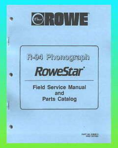 rowe r 94 jukebox service parts manual ebay rh ebay com 6.8 Remington Cartridge 6.8 Remington Cartridge
