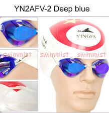 NEW YINGFA YN2AFV DEEPBLUE SWIMMING GOGGLES ANTI-FOG UV PROTECTION CLASSIC STYLE