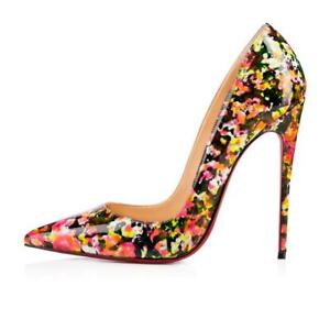 a626e6d020c Image is loading Christian-Louboutin-SO-KATE-120-Patent-Granite-Stiletto-