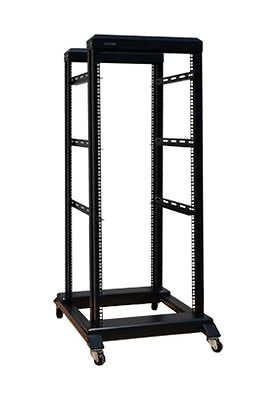 Leuk 22u 4 Post Open Frame Network Server Rack 600mm Deep (base) 3pairs Of L Rails