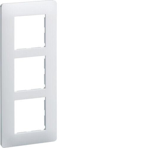 Plaque 3 postes entraxe 57 Blanc Hager Essensya