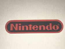 Vintage NINTENDO NES SNES Logo Store Display Window Cling Sticker Sign Decal 6""