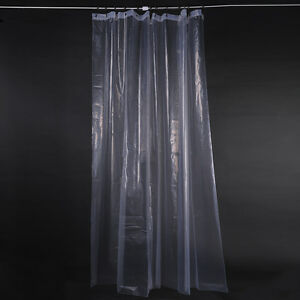 Image Is Loading 180cm 200CM Clear Shower Curtain Liner Heavy Duty
