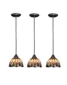 3 PACK! Tiffany 1 Light Stained Glass Pendant Lights