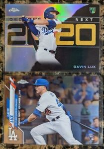 Lot of 2 Gavin Lux 2020 Topps Chrome Update U-54 Rookie 💎 Decade's Next Dodgers