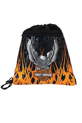 Exclusiv*Harley Davidson Turnbeutel Sportbeutel Tasche Schwimmtasche Motor EDEL!