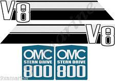 OMC 800 Stringer V8 Stern Drive Decal Set