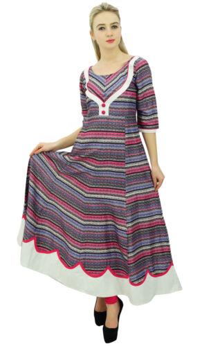 Phagun Frauen-Mehrfarbendoppelschicht Anarkali Kurti Indische Kleidung