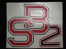 """Bimota Schriftzug """"SB2"""" rot/schwarz"""