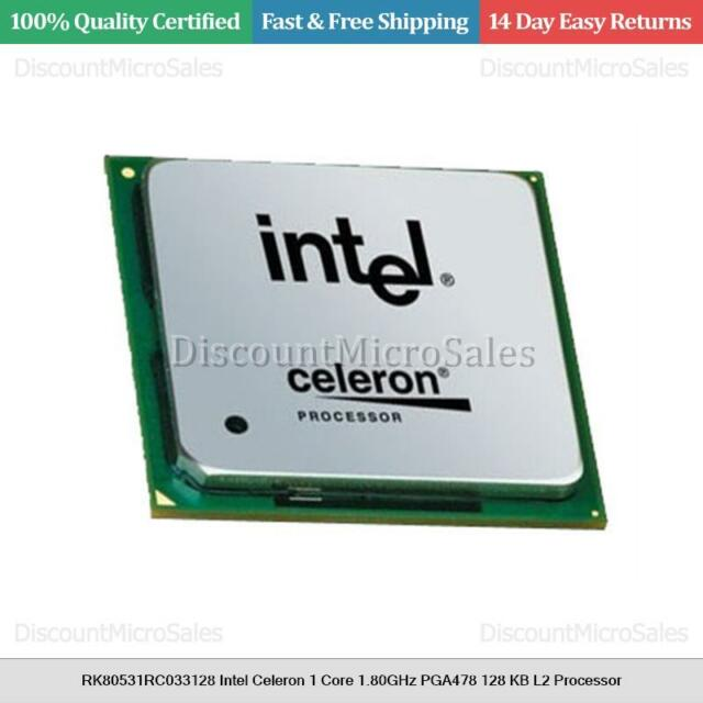 RK80531RC033128 Intel Celeron 1 Core 1.80GHz PGA478 128 KB L2 Processor