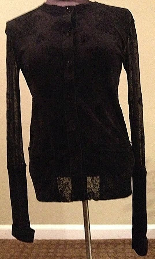 NEW JEAN PAUL GAULTIER FEMME Sheer TOP bluee Blouse SizeS US Size 6 Made in