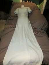 NWT Alyce Designs Mint  & White Evening Gown W Lace Detail $168 retail