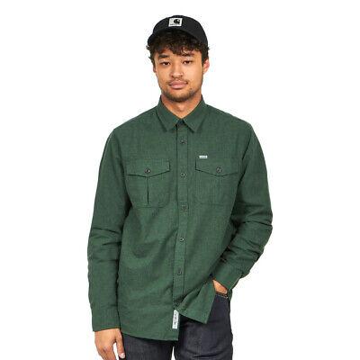 L//S Vendor Shirt Chrome Green Heather Hemd Langarm Carhartt WIP