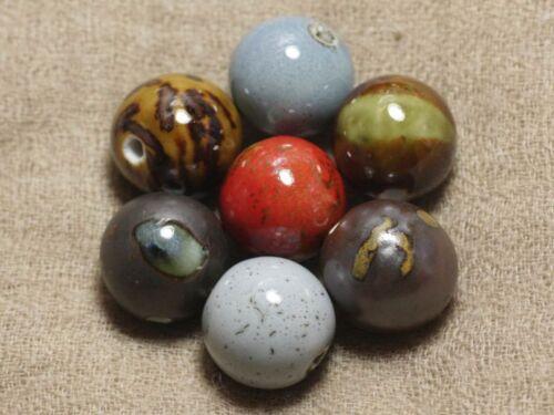 Sac de 100pc  4558550037312 Grosses Perles de Céramique 20 mm Lot au choix