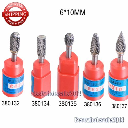 "1X Cylindrical Cut Tungsten Carbide Burr Bur Cutting Tool Die Grinder Bit 1//4/"""