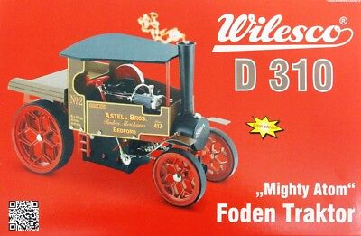 "Wilesco 00310 Foden Dampf-Lastwagen /""Mighty Atom/"""