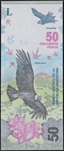 50 PESOS 2018 Suffix A Condor UNC Argentina Low number Pick # New