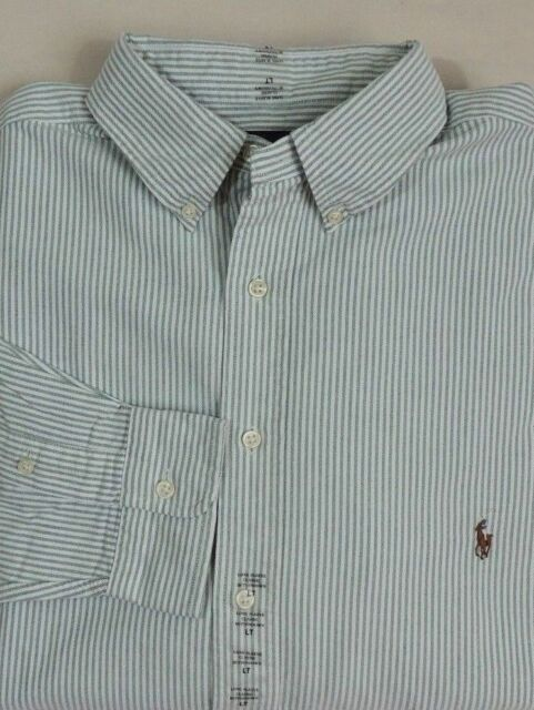 19d80a5c0 Ralph Lauren Polo Pony Classic Fit Oxford Long Slv Pinstripe Striped Dress  Shirt
