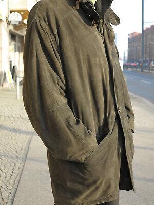 Capace Burberry Uomini Giacca Giacca Di Pelle Cappotto Basse 90er True Vintage Menjacket Leather-mostra Il Titolo Originale