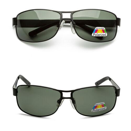 Mode 100/% UV400 Herren Polarisierend Retro Metall Fahren Außen Sonnenbrille