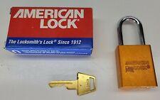 American Lock Padlock 1100 Series Master Lock 1 Key Copper Keyed Alike 85651