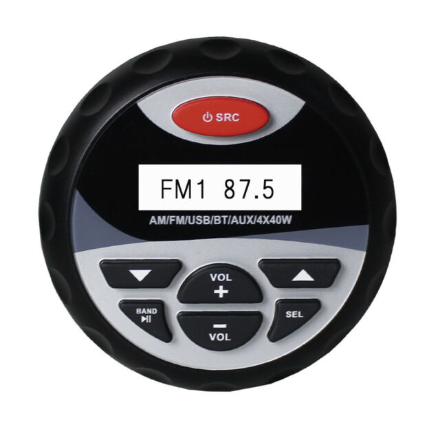 "4 "" Waterproof Gauges  Style Car Stereo MP3 Player FM AM Radio Marine Audio Boat"