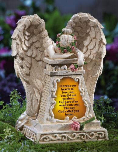 Solar Lighted Weeping Angel Loved Ones Lost Memorial Garden Statue
