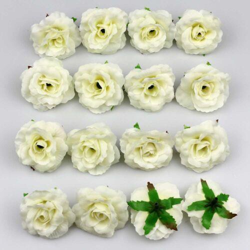 DIY 50X Artificial Silk Rose Flower Heads Bulk 50mm Bridal Wedding Party Decor
