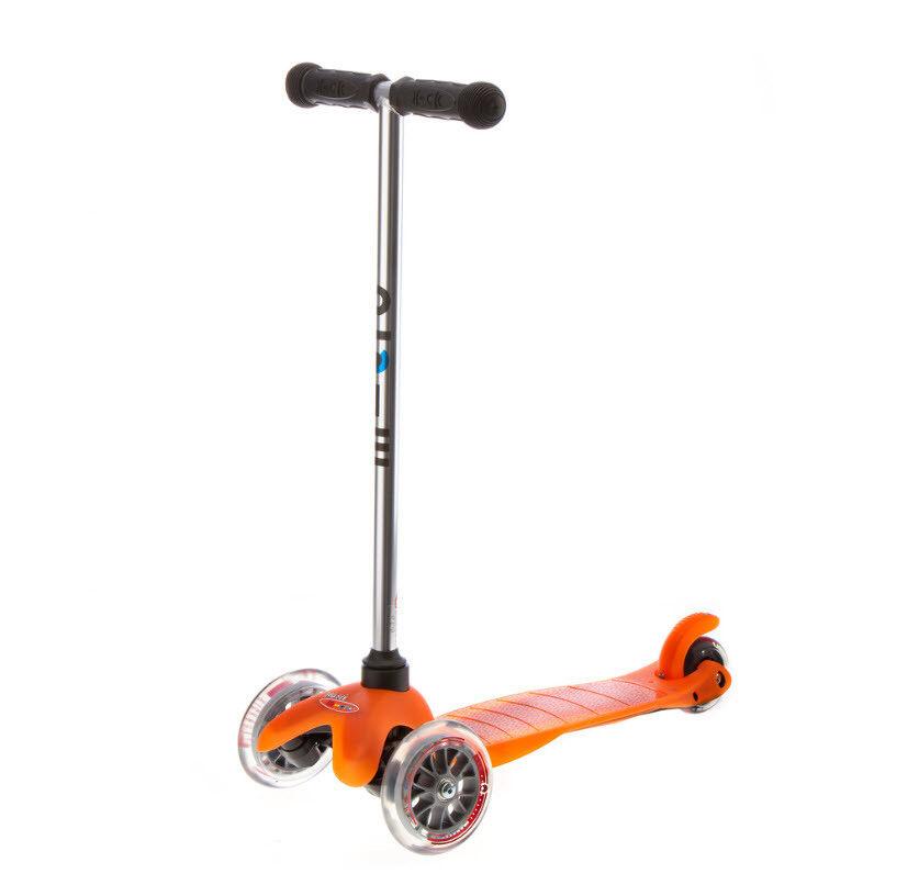 Micro Mini Micro Orange mit mit mit transparenten Rädern 2-5 Jahre Neu 89ed6c