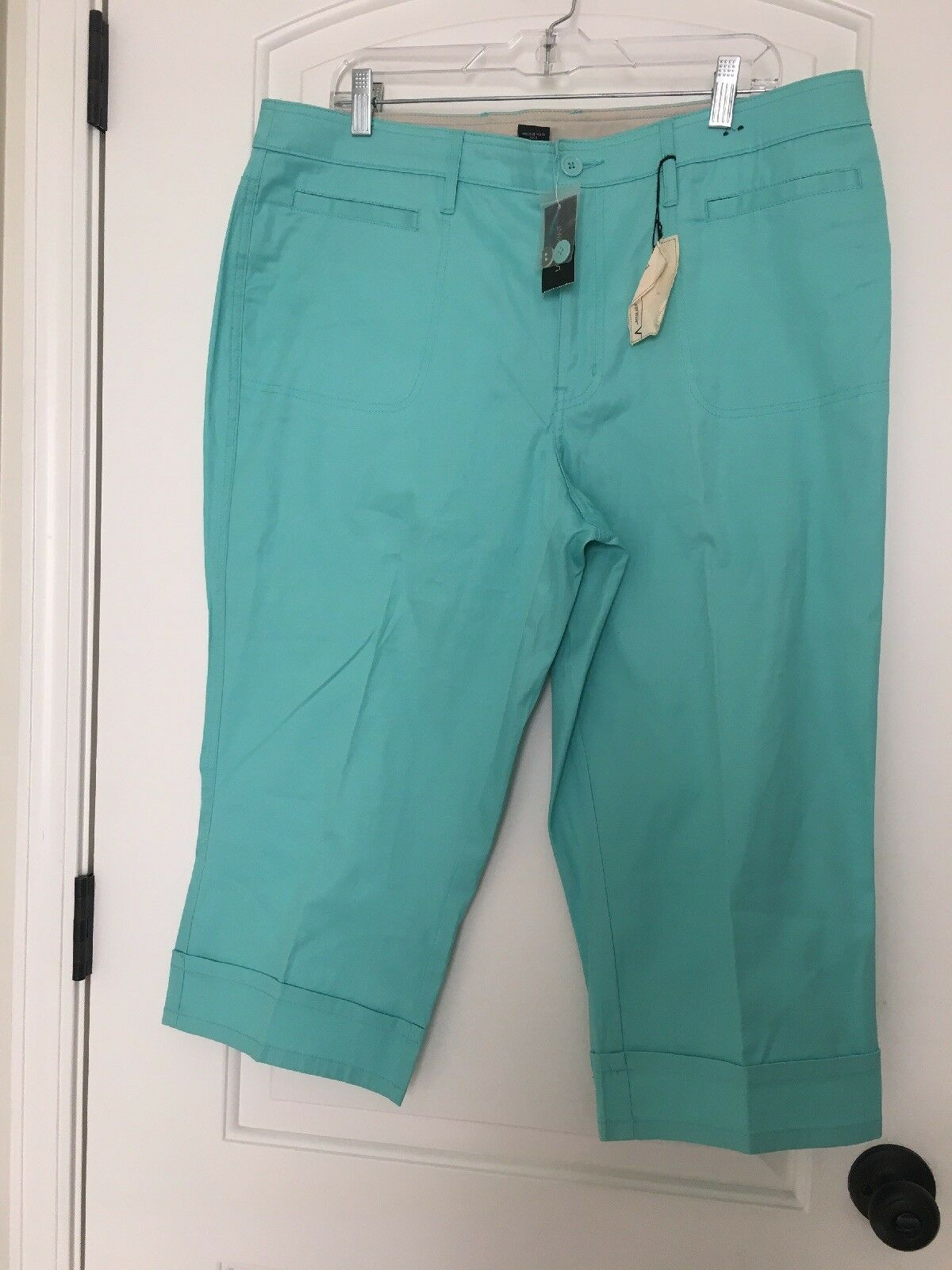 Lane Bryant Venezia Women's Casual Capri Pants Sz 18 Greenish Clothes