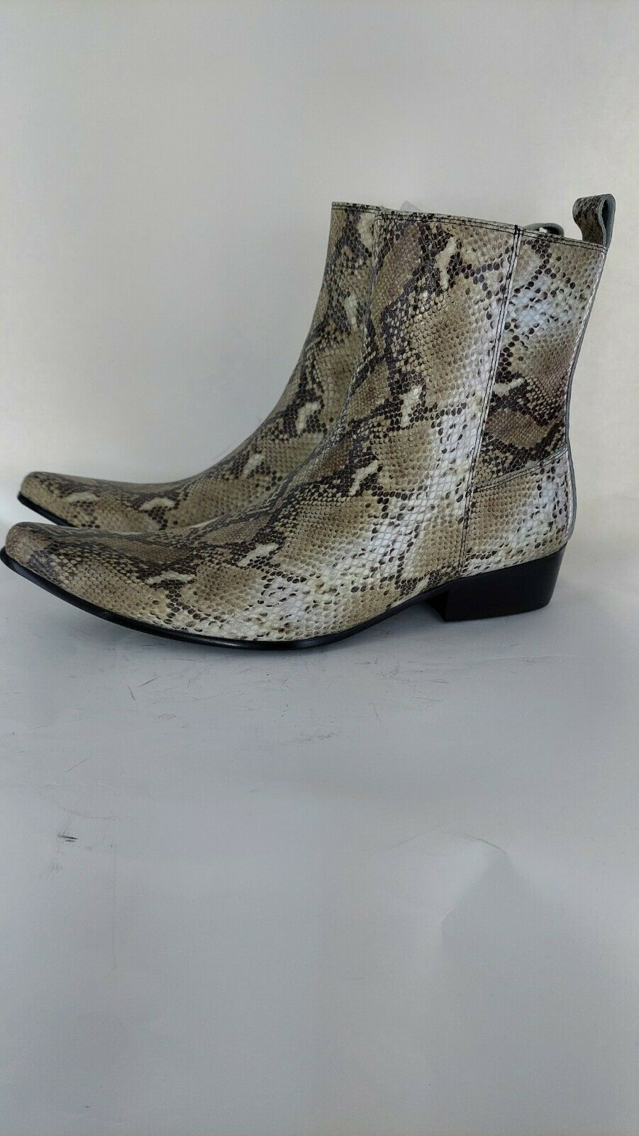 Club Cubano LENNON Mens Snake Leather Cuban Heel Boots Python UK 10#821