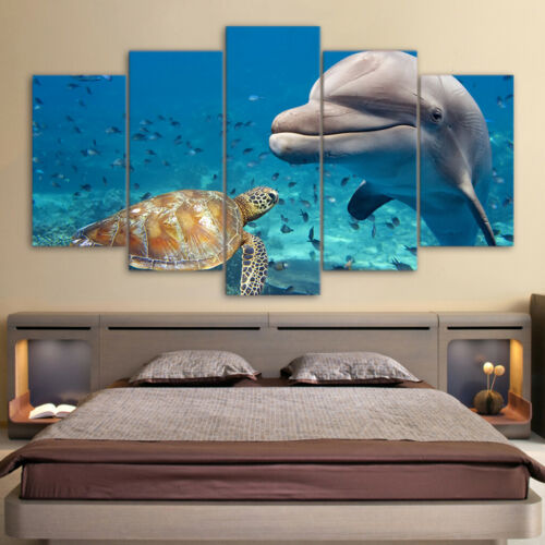 Wall Scenic Canvas Print Picture Art Painting on Canvas Wall Animals Turtles