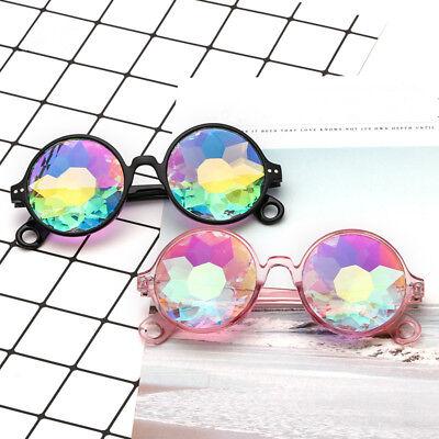 Round Kaleidoscope Glasses Rave Festival Men Women Sunglasses Celebrity Eyewear
