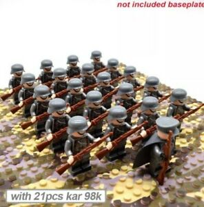 Lego-ww2-Lot-De-21-Soldats-Allemands-Militaire-Armee-German-Jouet