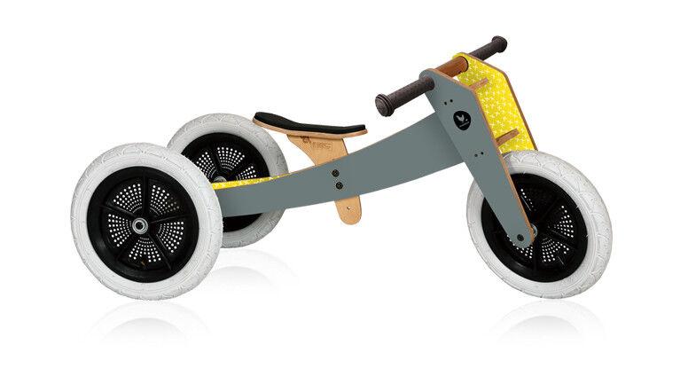Grau - Wishbone Bike 3in1  Laufrad und Dreirad 1 bis 5 Jahre NEU SOFORTVERSAND