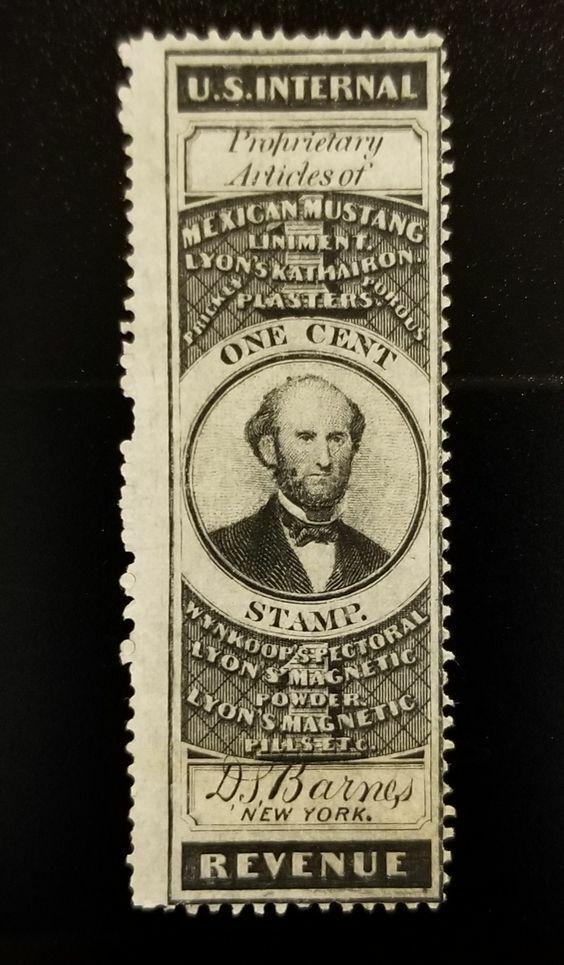 D.S. Barnes U.S. Internal Revenue 1c RS18a Private Die,