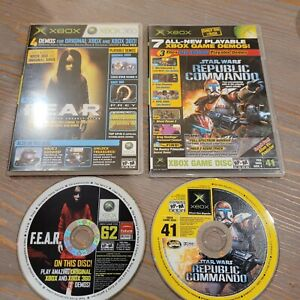 Lot of 2 Original Official Xbox Magazine OXM Demo Disc 41 & 62 Star Wars Fear