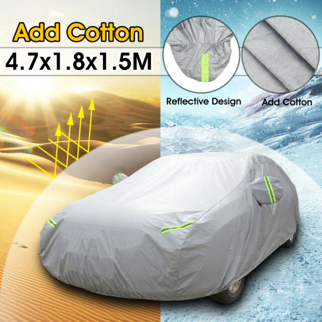 Universal Waterproof Full Car Cover Heavy Duty Breathable Snow UV Dust Protector
